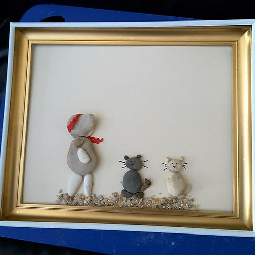 Cats and Hats - 11  x  9 inches