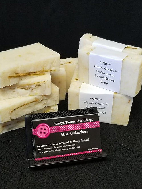 Hand Crafted Cedarwood Sweetgrass Soap