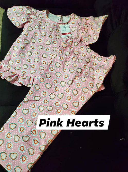 Pink Hearts PJ Set