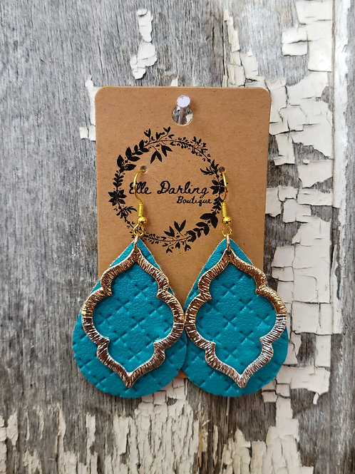 Faux Leather Pendent Drops