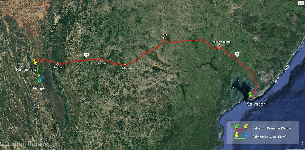 Mapa Salvador x Guiné