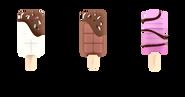 L'authentique Pop's à la crème glacée vanille, ses délicieux trempages de chocolat belge et garnitures.