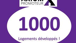 1000 logements en cours de production !