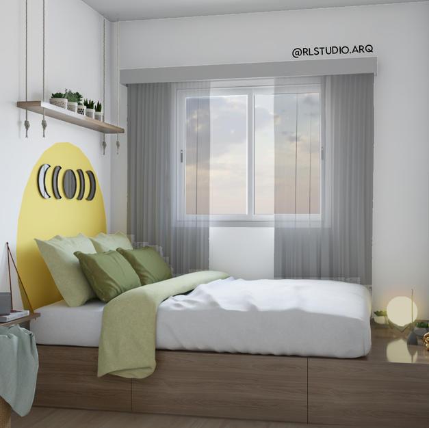 Dormitório contemporâneo