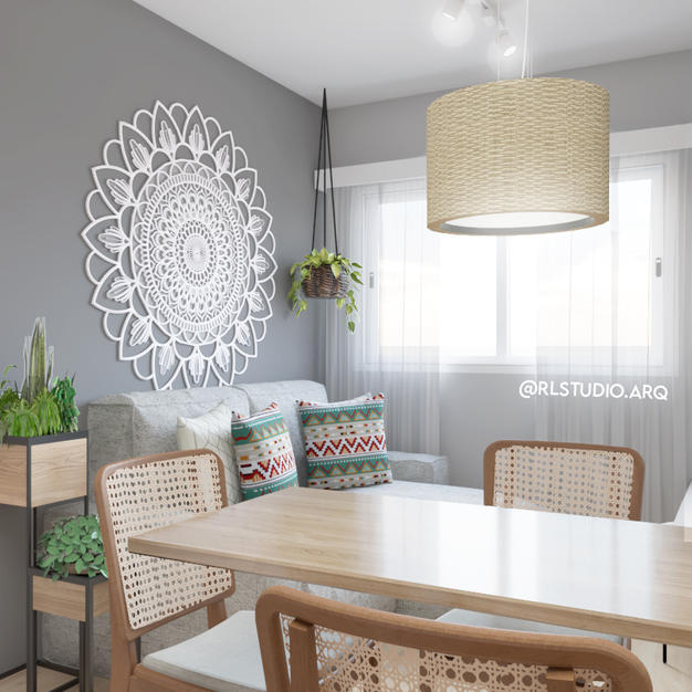Sala de jantar contemporânea