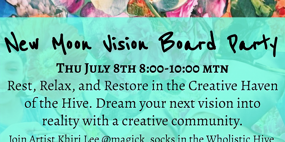 New Moon Vision Board Party