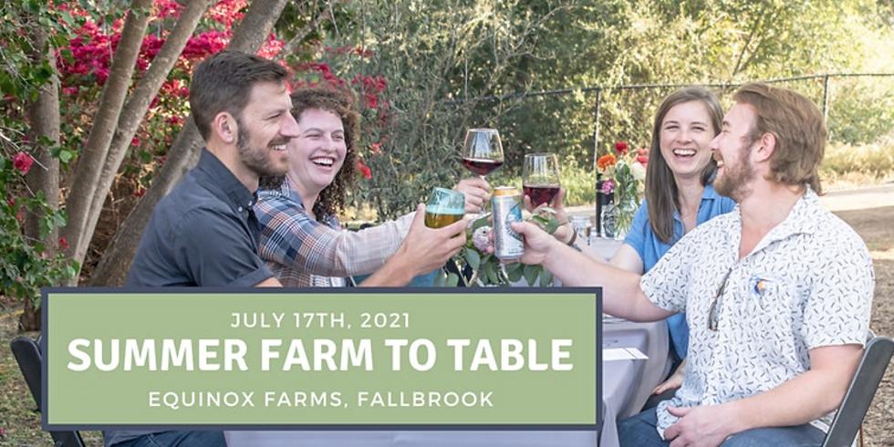 Summer Farm to Table Dinner