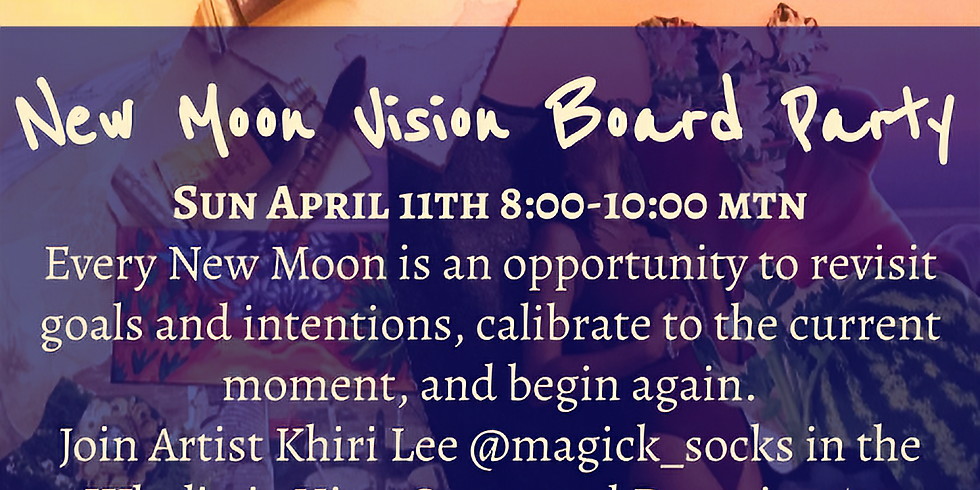 New Moon Vision Board Party in the Hive