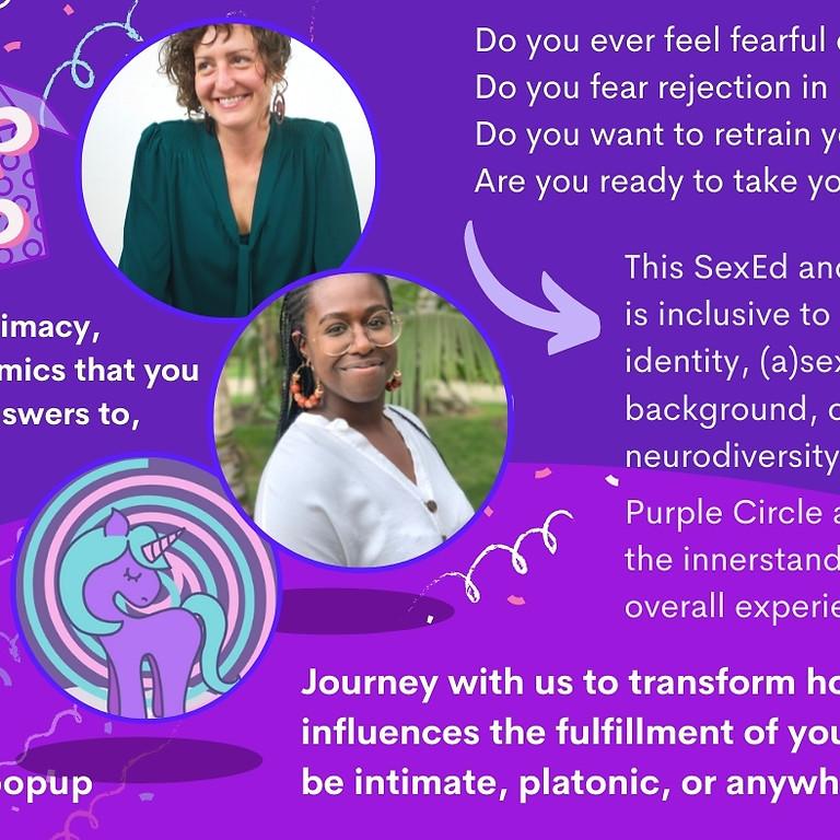 Purple Circle Pop-Up