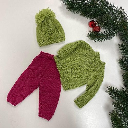 Dukkeklær strikket