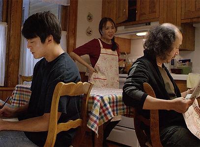 Akiko Shima as Hiroko Oniwa moderates tension between Kento Matsunami's Akira & Naoyuki Ikeda's Takashi