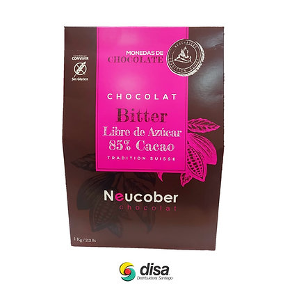MONEDAS CHOCOLATE BITTER 85% CACAO S/A