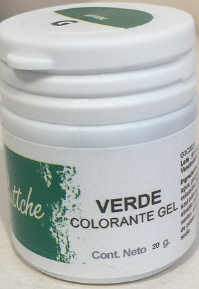 COLOR GEL VERDE 20grs Nac