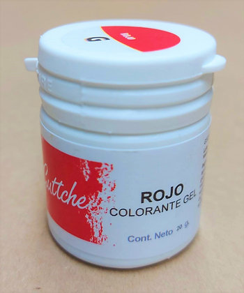 COLOR GEL ROJO 20grs
