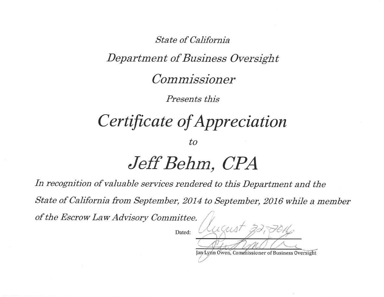 Jeff's DBO Certificate 8.22.16