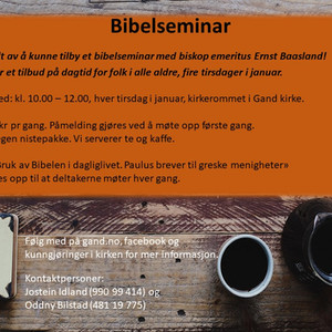 Bibel-seminar med Ernst Baasland