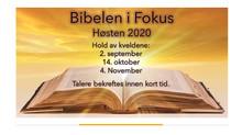 Bibelen i Fokus - høsten 2020