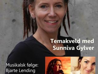 "Tors. 26. mars kl. 20.00. ""Åpen himmel"" - temakveld med Sunniva Gylver."