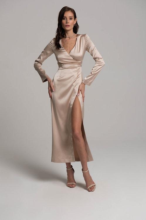 Платье-миди с запахом