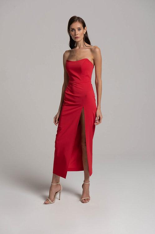 Платье-миди с корсетом