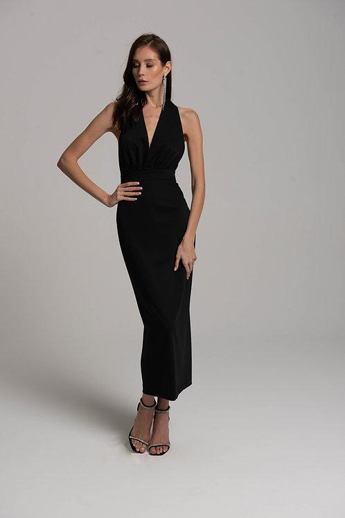 Платье-миди с открытой спиной