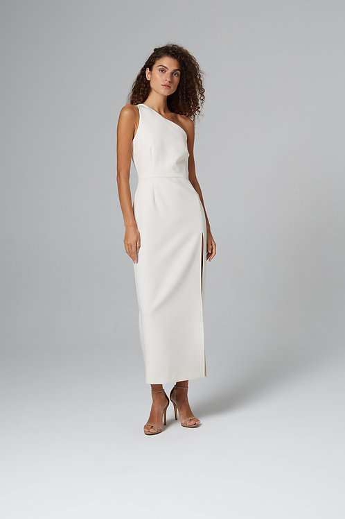 Платье-миди с разрезом