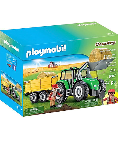 Playmobil Tractor con Remolque (47 pcs)