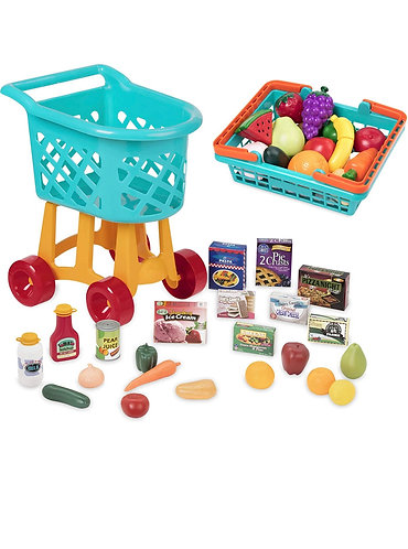 Battat Toy Shopping Cart with Basket