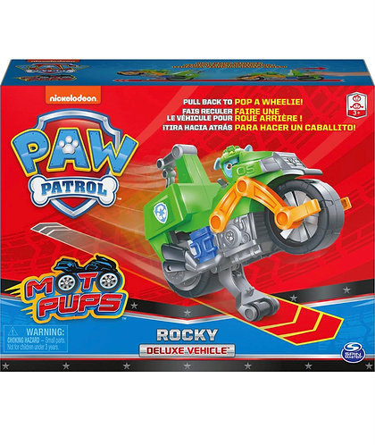 Paw Patrol Moto Pups Rocky Deluxe Pull Back Motorcycle