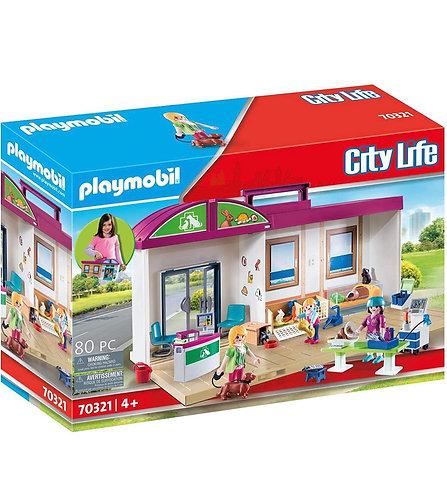 Playmobil Clínica de Mascotas (80 pcs)