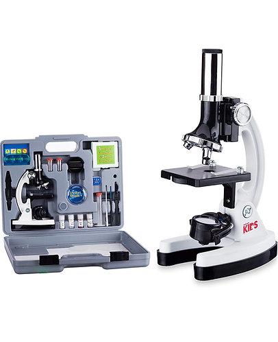 Microscopio AmScope 120X-1200X 52-pcs (Bundle con Portaobjetos Biológicos)