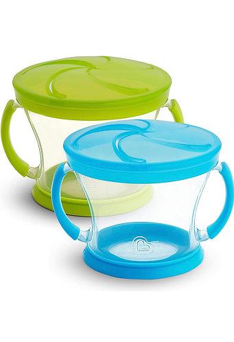 Envase para Snacks de Plástico (set de 2, color Celeste y Verde)
