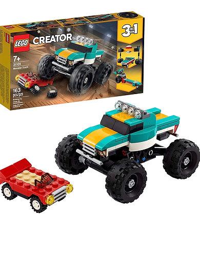LEGO Creator 3en 1 Monster Truck Toy 31101