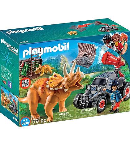 Playmobil Escuadrón Enemigo y Triceraptor (59 Pcs)