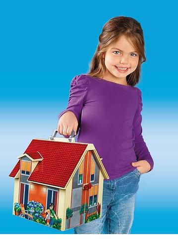 Playmobil Casa de muñecas moderna portátil