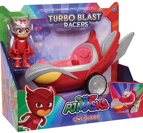 PJ Masks Turbo Blast Vehicles Owlette, Rojo