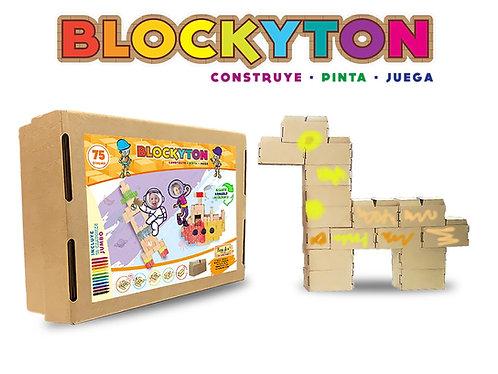 BLOCKYTON (Bloques de Cartón para Armar 75 pcs)