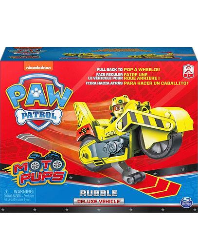 Paw Patrol Moto Pups Rubble Deluxe Pull Back Motorcycle
