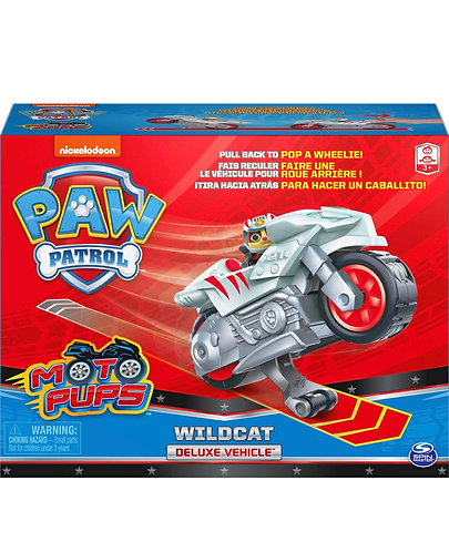 Paw Patrol Moto Pups Wildcat Deluxe Pull Back Motorcycle