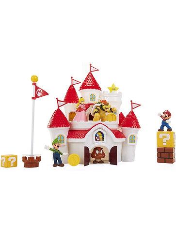 Super Mario Deluxe Mushroom Kingdom Castle (incluye figuras y accesorios))