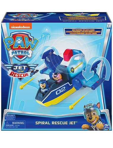 Paw Patrol Jet to the Rescue Deluxe Transforming Spiral Rescue