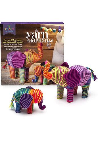 CraftTastic Kit de Manualidades para hacer 2 Elefantes en Hilo