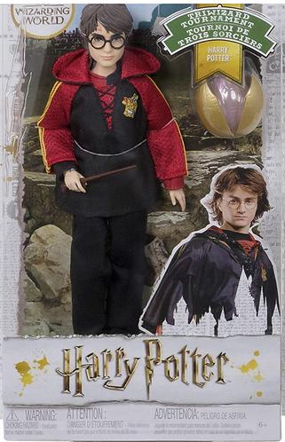 Harry Potter Torneo de Triwizard Muñeco con Varita y Accesorio