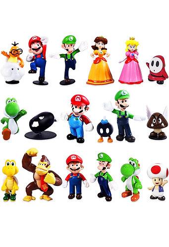 Set de Figuras de Mario Bros (18 pcs)