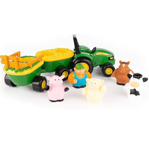 John Deere Hayride Set con Animales de Granja