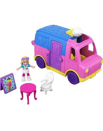 Polly Pocket Pollyville - Camión para helados