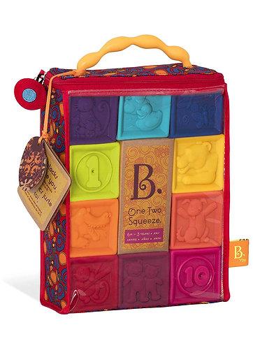 B-Toy Squeeze baby blocks