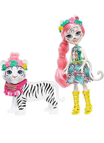 Enchantimals Tadley Tiger Doll & Kitty Animal Friend