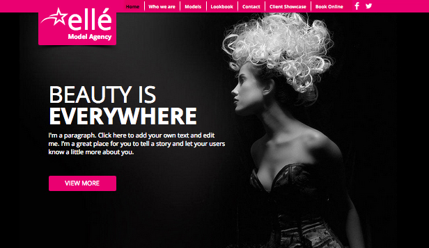 Moda website templates – Model Ajansı