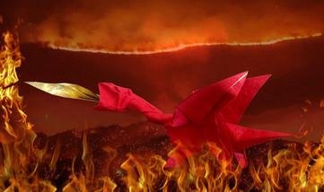 Flamming Dragon by Oriol Esteve
